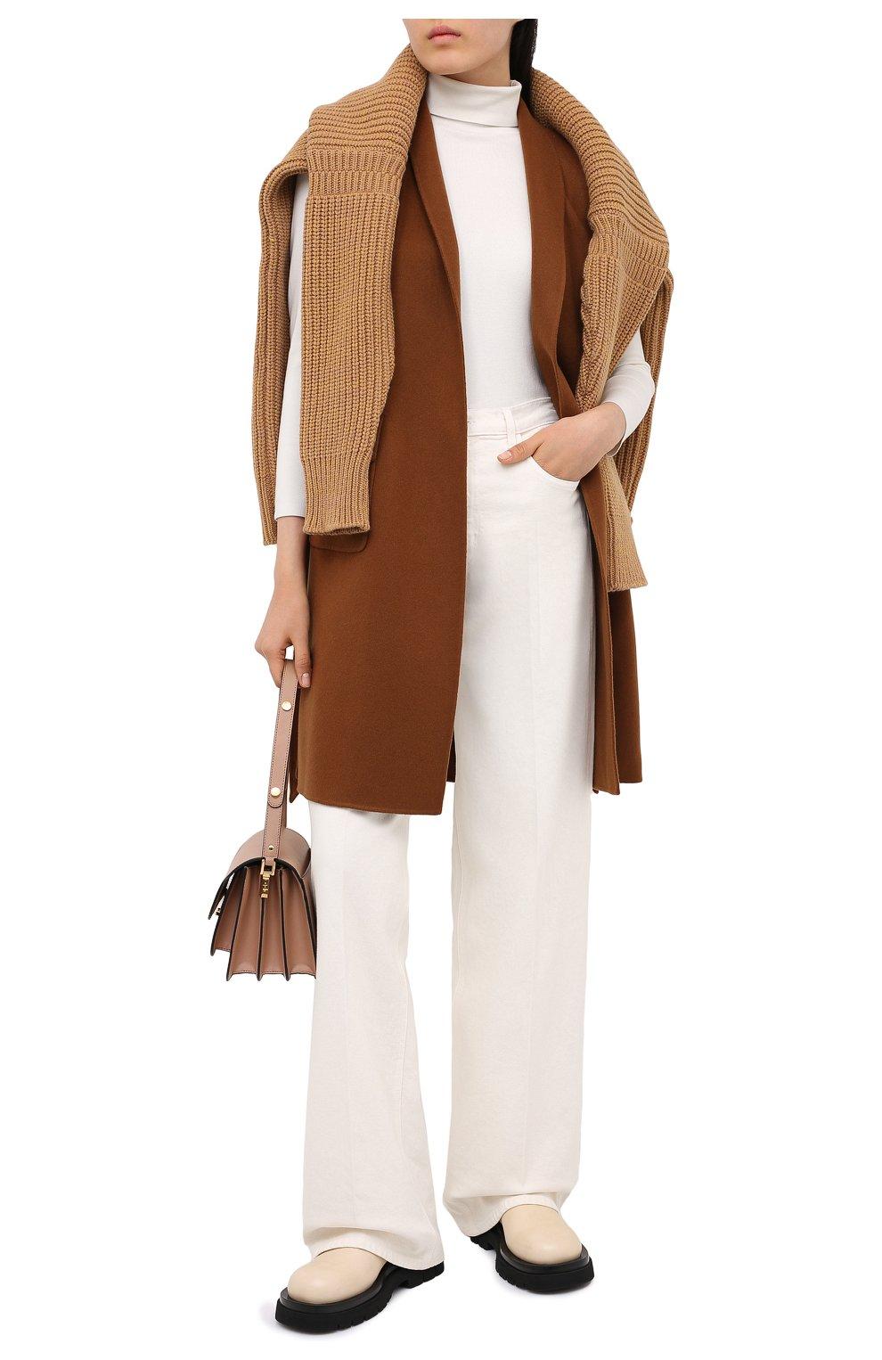 Женский кашемировый жилет LORO PIANA светло-коричневого цвета, арт. FAG3518 | Фото 3