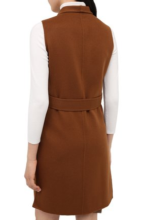Женский кашемировый жилет LORO PIANA светло-коричневого цвета, арт. FAG3518 | Фото 5