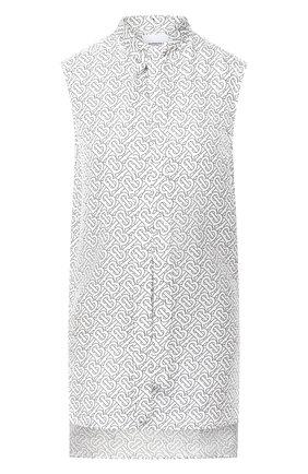 Женская шелковый топ BURBERRY белого цвета, арт. 8029534 | Фото 1