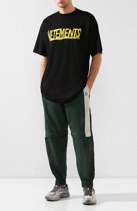 Мужские текстильные кроссовки vetements x reebok spike runner 200 VETEMENTS серого цвета, арт. UAH21SN934 1385/M | Фото 2
