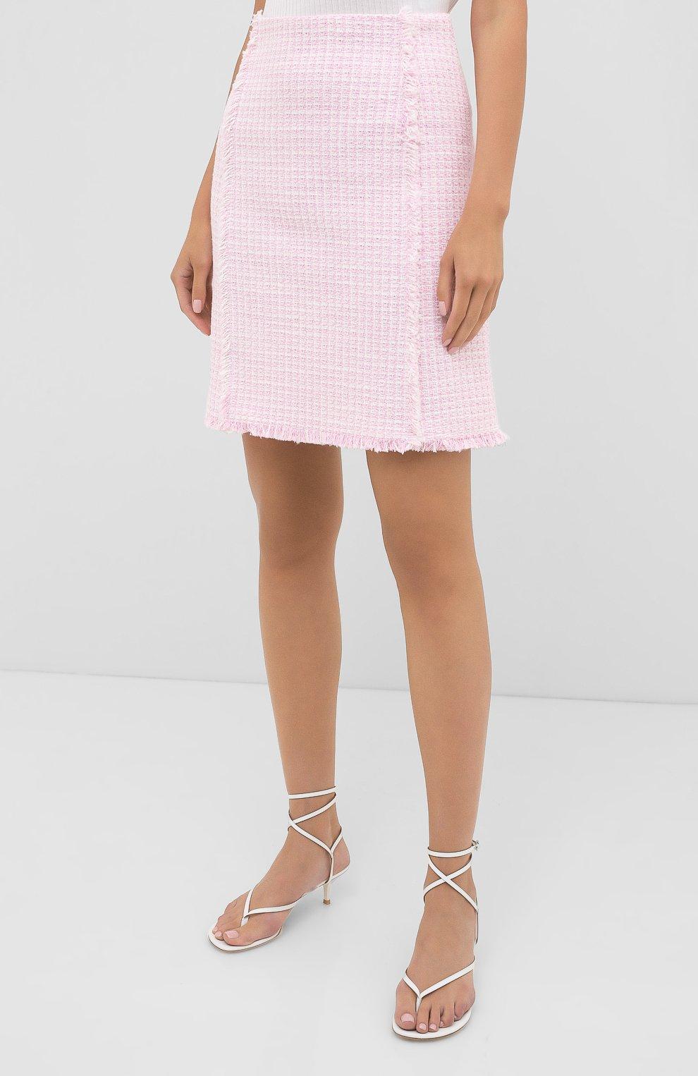 Женская юбка BOSS розового цвета, арт. 50434552 | Фото 3