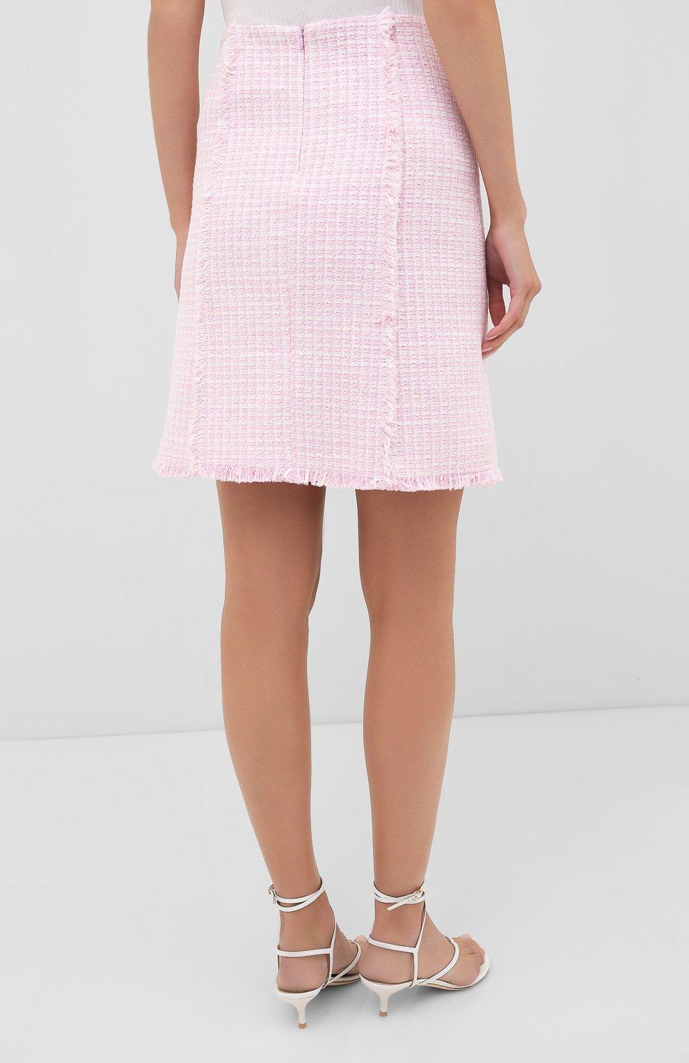 Женская юбка BOSS розового цвета, арт. 50434552 | Фото 4