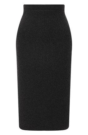 Женская кашемировая юбка LORO PIANA темно-серого цвета, арт. FAL2871 | Фото 1