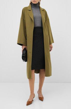 Женская кашемировая юбка LORO PIANA темно-серого цвета, арт. FAL2871 | Фото 2