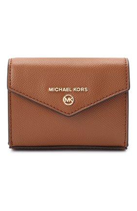 Женские кожаный кошелек на цепочке MICHAEL MICHAEL KORS коричневого цвета, арт. 32S0GT9C0L   Фото 1
