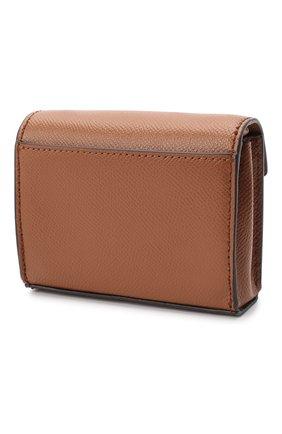 Женские кожаный кошелек на цепочке MICHAEL MICHAEL KORS коричневого цвета, арт. 32S0GT9C0L   Фото 2