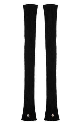 Женские шерстяные митенки RICK OWENS черного цвета, арт. RP20F2488/M | Фото 2