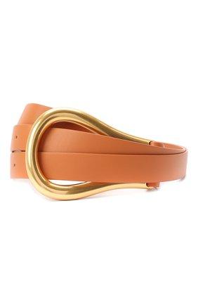 Женский кожаный ремень BOTTEGA VENETA бежевого цвета, арт. 577040/VMAU1 | Фото 1