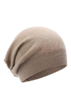 Мужская кашемировая шапка RICK OWENS серого цвета, арт. RU20F3493/WS   Фото 1