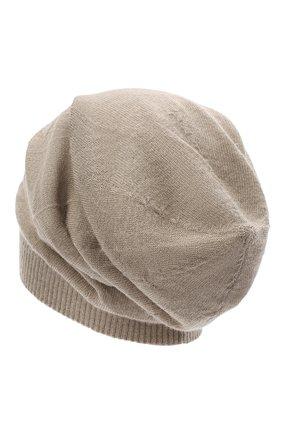 Мужская кашемировая шапка RICK OWENS серого цвета, арт. RU20F3493/WS   Фото 2