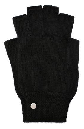 Мужские кашемировые перчатки RICK OWENS черного цвета, арт. RU20F3485/WS   Фото 1