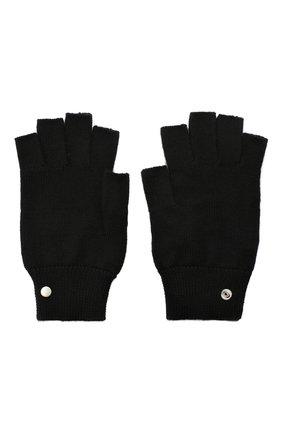 Мужские кашемировые перчатки RICK OWENS черного цвета, арт. RU20F3485/WS | Фото 2