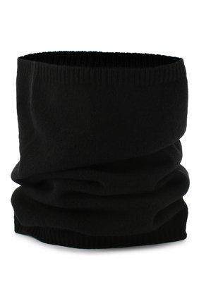 Мужской кашемировый шарф RICK OWENS черного цвета, арт. RU20F3484/WSBR | Фото 1