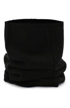 Мужской кашемировый шарф RICK OWENS черного цвета, арт. RU20F3484/WSBR | Фото 2