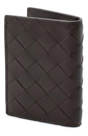 Мужской кожаный футляр для кредитных карт BOTTEGA VENETA темно-коричневого цвета, арт. 592619/VCPQ4 | Фото 2