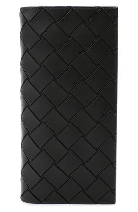 Мужской портмоне BOTTEGA VENETA черного цвета, арт. 635077/VBWL1 | Фото 1