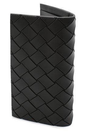 Мужской портмоне BOTTEGA VENETA черного цвета, арт. 635077/VBWL1 | Фото 2