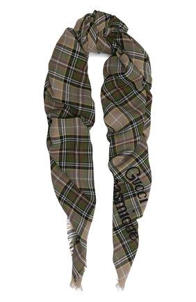 Мужской шерстяной шарф gucci orgasmique GUCCI бежевого цвета, арт. 620547/4G200 | Фото 1