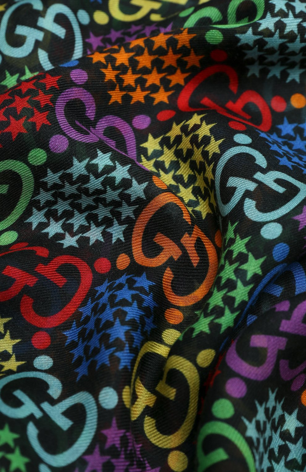 Мужской шарф gg psychedelic GUCCI разноцветного цвета, арт. 600975/4G865   Фото 2