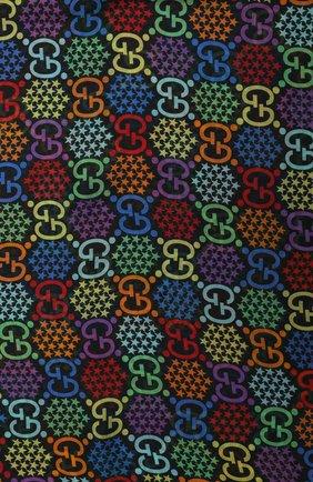 Мужской шарф gg psychedelic GUCCI разноцветного цвета, арт. 600975/4G865   Фото 3
