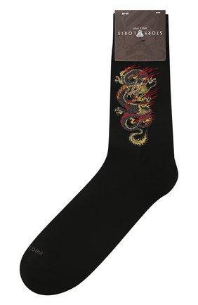 Мужские хлопковые носки STORY LORIS черного цвета, арт. 5989 | Фото 1