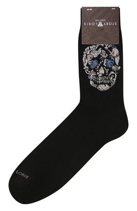 Мужские хлопковые носки STORY LORIS черного цвета, арт. 5965 | Фото 1
