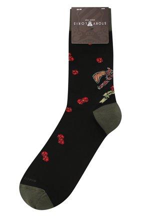 Мужские хлопковые носки STORY LORIS черного цвета, арт. 5943 | Фото 1