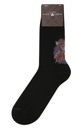Мужские хлопковые носки STORY LORIS черного цвета, арт. 5927 | Фото 1
