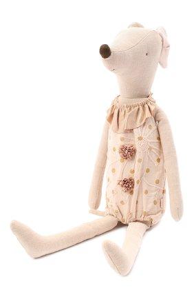 Детского игрушка цирковая мышка макси MAILEG бежевого цвета, арт. 16-8792-00   Фото 2