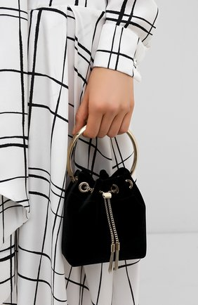 Женская сумка bonbon mini JIMMY CHOO черного цвета, арт. B0N B0N/VKK | Фото 2