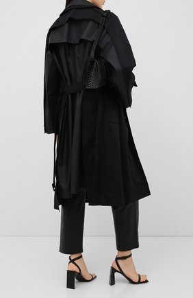Женский тренч VETEMENTS черного цвета, арт. WAH21JA007 1007/BLACK/BLACK | Фото 2