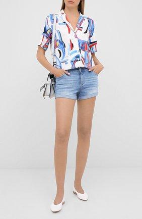Женские джинсовые шорты PAIGE синего цвета, арт. 4281F72-7639 | Фото 2