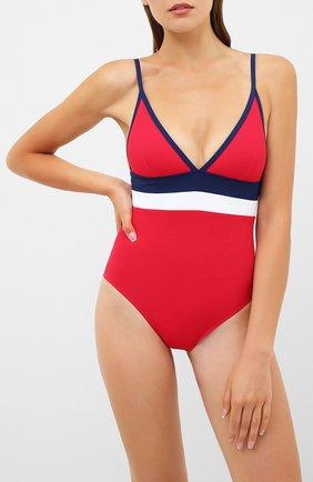Женский слитный купальник SHAN красного цвета, арт. 42085-13 | Фото 2