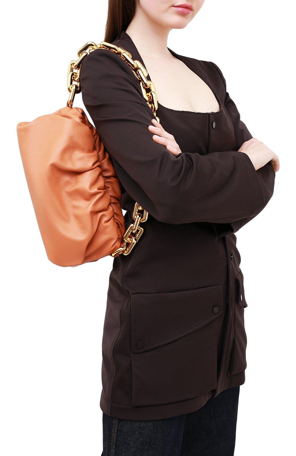 Женская сумка chain pouch BOTTEGA VENETA персикового цвета, арт. 620230/VCP40   Фото 2