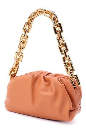 Женская сумка chain pouch BOTTEGA VENETA персикового цвета, арт. 620230/VCP40   Фото 3