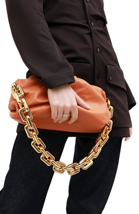 Женская сумка chain pouch BOTTEGA VENETA персикового цвета, арт. 620230/VCP40   Фото 5