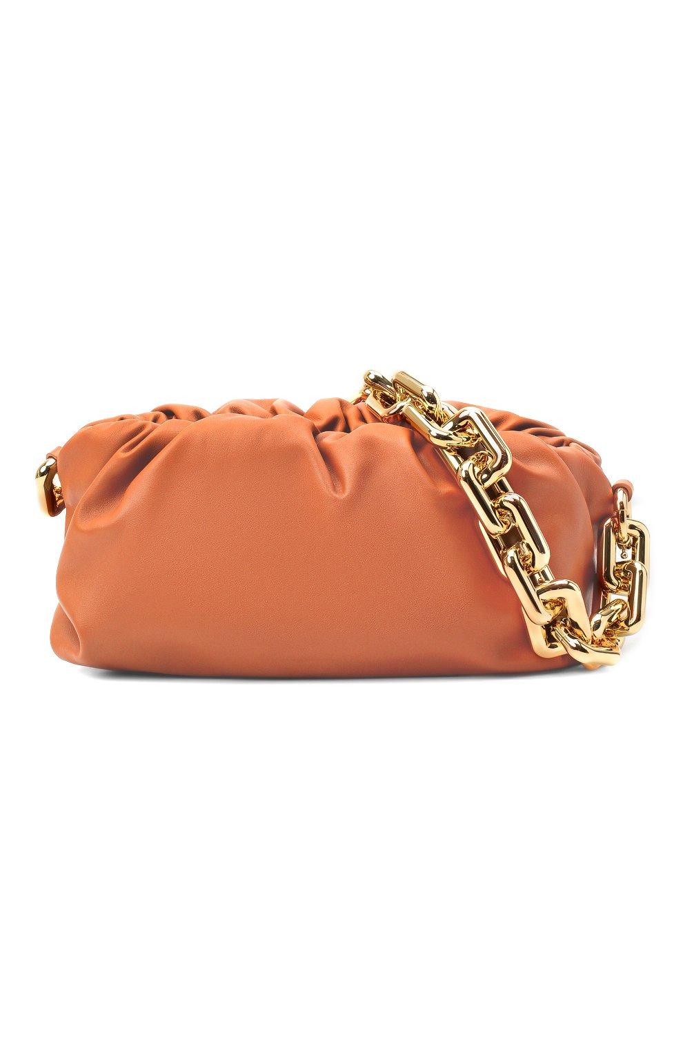 Женская сумка chain pouch BOTTEGA VENETA персикового цвета, арт. 620230/VCP40   Фото 6