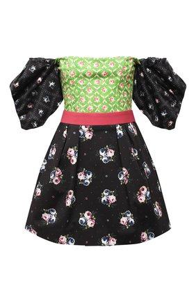 Женское хлопковое платье ULYANA SERGEENKO черного цвета, арт. ABC003SS20P (2222т19) | Фото 1