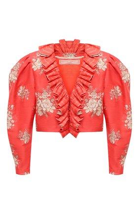 Женский шелковый жакет ULYANA SERGEENKO красного цвета, арт. GCC003SS20P (0339р19) | Фото 1