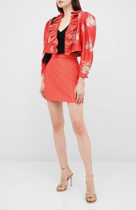 Женский шелковый жакет ULYANA SERGEENKO красного цвета, арт. GCC003SS20P (0339р19) | Фото 2