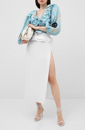 Женская юбка ULYANA SERGEENKO белого цвета, арт. GNM005SS20P (0602т20) | Фото 2