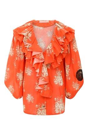 Женская хлопковая блузка ULYANA SERGEENKO красного цвета, арт. CMA003SS20P (0305т20) | Фото 1