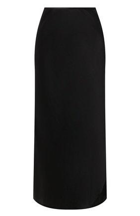 Женская юбка из шелка и вискозы DOROTHEE SCHUMACHER черного цвета, арт. 847904/SENSE 0F SHINE | Фото 1