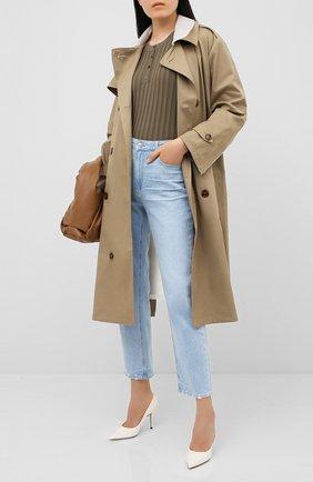 Женская кожаные туфли love 85 JIMMY CHOO белого цвета, арт. L0VE 85/PWJ | Фото 2