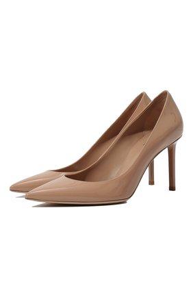 Женская кожаные туфли anja SAINT LAURENT бежевого цвета, арт. 489751/0NP00 | Фото 1