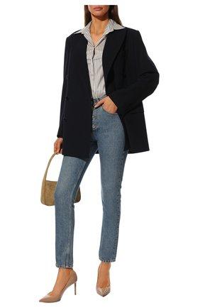 Женская кожаные туфли anja SAINT LAURENT бежевого цвета, арт. 489751/0NP00 | Фото 2