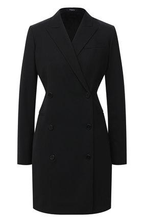 Женское шерстяное платье THEORY черного цвета, арт. H0701614 | Фото 1