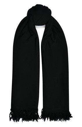 Мужские шерстяной шарф RICK OWENS черного цвета, арт. RP20F2487/M   Фото 1