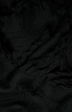 Мужские шерстяной шарф RICK OWENS черного цвета, арт. RP20F2487/M   Фото 2