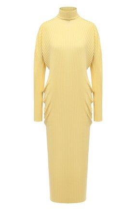 Женское шерстяное платье BOTTEGA VENETA бежевого цвета, арт. 626961/VKWG0 | Фото 1